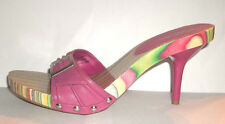 MIA Out of Time Pink Leather Open Toe Platform Sandal Heels Size 9 M......C8691