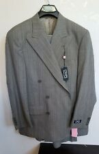 CHAPS Ralph Lauren Double Breasted 2 Piece Striped SUIT 42R 36 NWT 445