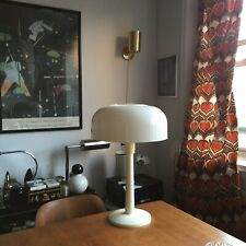 Vintage Mid Century Mod Thurston for Lightolier Saucer Mushroom Shade Table Lamp