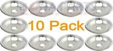 "10 Pack Whirlpool Stove Range Cooktop 8"" Chrome Drip Pan 19950043 19950016"