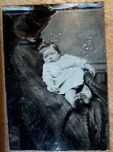 """Tintype African American Nanny &White Baby Black Interest """"Hidden Mother"""" Unique"""