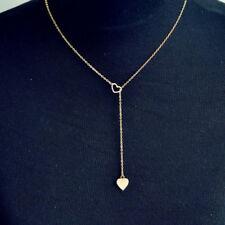 Necklace Heart Pendant Gold Silver Chain Jewellery Women Choker Statement