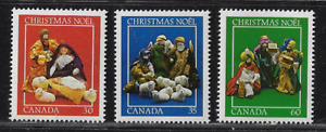 Canada Stamps — 1982, Christmas - Crèches Figures #973-975 MNH