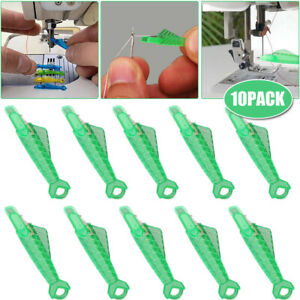 10Pcs Sewing Machine Needle Threader Self-Threading Quick Sewing Needle Changer