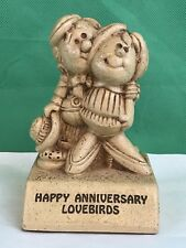 Paula 1973 HAPPY ANNIVERSARY LOVEBIRDS Vintage Figurine Collectible W 347
