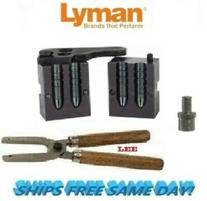 Lyman Double Cav Mold 314 Dia for 303 British 2660299 w/ Top Punch & Lee Handles