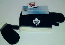 NHL boy toque maple leaf Toronto hockey beanie and mits 4-6x new with tags