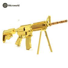 Microworld 3D Metal Puzzle 21CM M4A8 Carbine Rifle Weapon DIY Laser Cut Toy-Gold