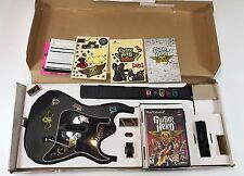 Redoctane Kramer Wireless Guitar + Dongle & Aerosmith Playstation 2 PS2 W Box