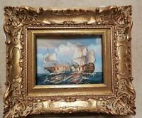 quadro dipinto a mano su tela cornice in legno foglia oro baroc classico antico