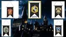 Harry Potter 5 Banner Set HOGWARTS GRYFFINDOR HUFFLEPUFF RAVENCLAW SLYTHERIN NEW