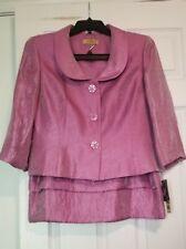 KASPER Women's 2 Piece Jacket & Skirt Set Rose Gardens Raspberry Sz 16P NWT $280