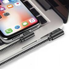 2m PREMIUM rechtwinklig Schnell Ladekabel für Original iPhone 6 7 8 X iPad grau