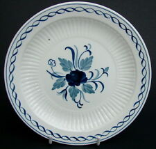 Adams Blue Baltic Pattern Lg Side or Bread Size Plate 17.75cm Small Black Dot