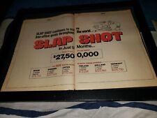 Slap Shot Rare Original Box Office Promo Poster Ad Framed!