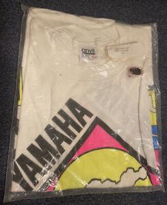 NEW Vintage Yamaha Wave Runner Jet Ski O/S White 1990 90s Crop Shirt Deadstock