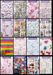 WRAPPING PAPER , BIRTHDAY NEW BABY WEDDING GIFTWRAP 2 SHEETS & 2 GIFT CARD TAGS