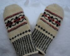 NEW WOMEN'S MITTENS 100% SHEEP WOOL yarn HOMEKNITTED warm winter