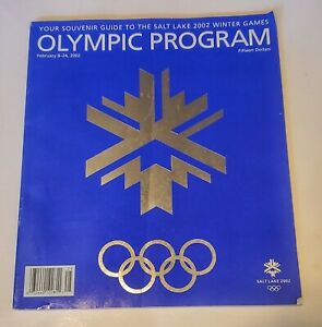 WINTER OLYMPICS Official Program 2002 Salt Lake City Ultimate Olympic Poster