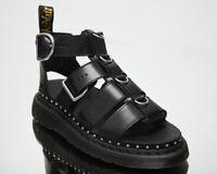 Dr. Martens Mackaye HDW Black Buttero Sandals Women's Casual Lifestyle Footwear