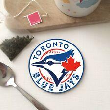 Retro TORONTO BLUE JAYS inspired Baseball Canada Tea Coffee Drink - WOOD Coaster