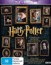 Harry Potter Complete Box set 1+2+3+4+5+6+7+8 Blu-Ray Box Set RB New