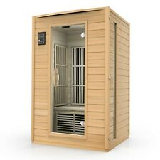 Durasage 2-Person Carbon Infrared Sauna - Canadian Hemlock Wooden Sauna - 1700 W