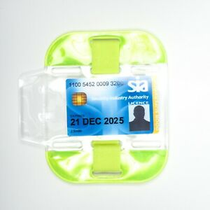 Yellow High Visibility Doorman Bouncer Security SIA Armband ID Badge Holder
