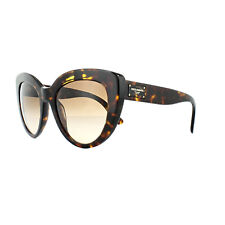 Dolce & Gabbana DG 4287 502/13 Dark Havana Frame Brown Shaded Lens Sunglasses 53