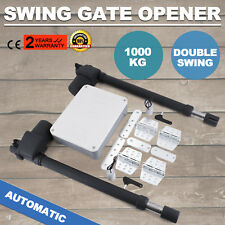Double Actuator Swing Gate Opener Operator 1000KG Electric Powered 2 Arms 230V