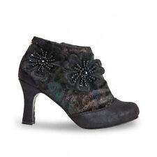 Joe Browns Esmeralda Black Faux Leather Floral Steampunk Victorian LARP Boots