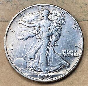 1938-D Walking Liberty Half Dollar  XF/AU