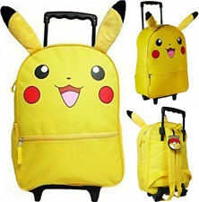 Pokemon Pikachu 16' Large Rolling School Backpack, Book Bag
