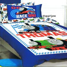 Thomas the Tank Engine Race On! - Double/US Full Bed Quilt Doona Duvet Cover set