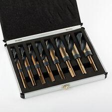 "Silver & Demming Jumbo Drill Bit Set 8pc 1/2"" - 1"" Large Heat Treated Industrial"