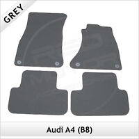 Audi A4 Saloon B8 2007-2015 Tailored Fitted Carpet Car Floor Mats GREY