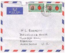 UU99 1972 Yemen North Devon GB Cover {samwells-covers}PTS