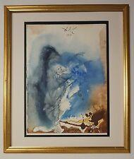 """Original 1967 Salvador Dali Biblia Sacra """"Creatio animalium ..."""" Signed - COA"""