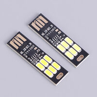 Portable 1W white mini touch switch usb power led light night read lamp bulb  wr