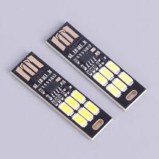 Portable 1w White Mini Touch Switch Usb Power Led Light Night Reading Lamp Bumx
