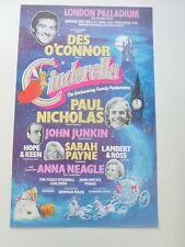 More details for des o'connor paul nicholas anna neagle london palladium pantomime poster 1985