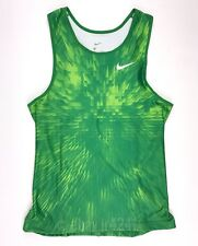 New Nike Track Tight Tank Men's Large Green Running Compression Singlet 880462