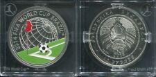 WEISSRUSSLAND BELARUS 2013 - 10 Rubel in Silber, PP - FUSSBALL WM BRASILIEN 2014