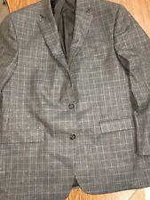 RALPH RALPH LAUREN  Men's 2 Button Blazer Sports Coat Grey Plaid Sz 44 R