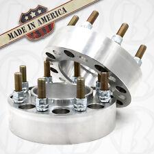 "x2 | 8 Lug 8x180 Chevy Silverado HUB CENTRIC Wheel Adapters / 1.5"" Spacers USA"