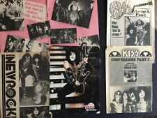 KISS 6 Full Page  Magazine Pinup's / Clippings