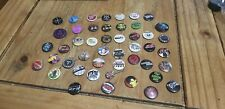 Funny Emo Rude Bands 45 Small Pin Badges Rock Used Good Condition