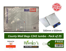 County Strong White Polythene Mail Bags Parcel Postal Assorted Sizes 500 X 650mm