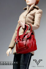 HB2001-14 The Vogue Burgundy Leather Designer Hobo Handbag for Barbie FR2 FR