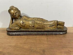 Antique Carved & Gilded Reclining Buddha
